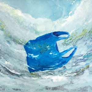 Wrong Blue In The Ocean   Acrylic on Canvas